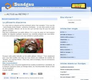Article sur Bredele.fr sur le blog iSundgau
