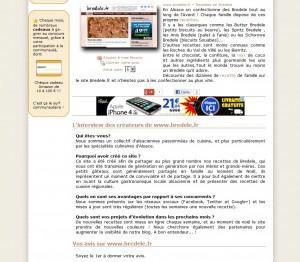 Article sur Bredele.fr par Sites à voir !