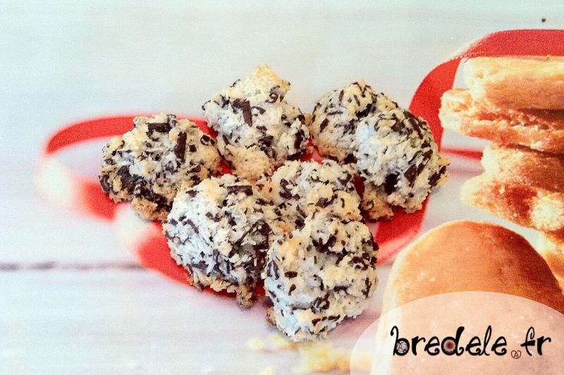 Macarons noix de coco chocolat