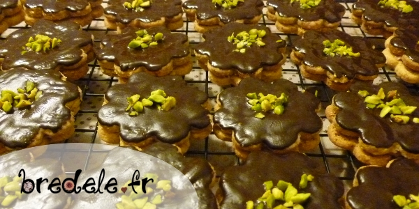 Biscuits chocolat praliné