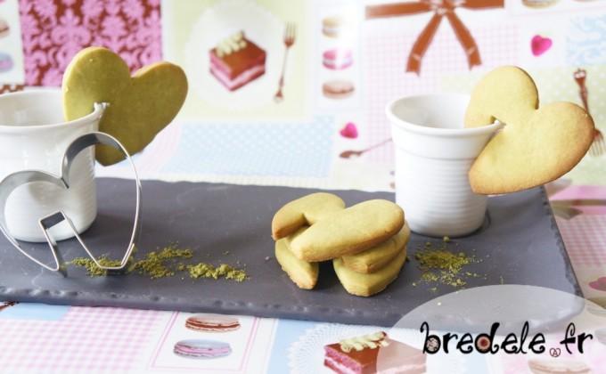 Sablés Thé Matcha pour la Saint-Valentin