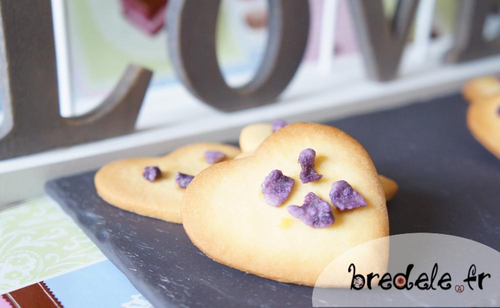 Biscuits de la Saint-Valentin à la Violette