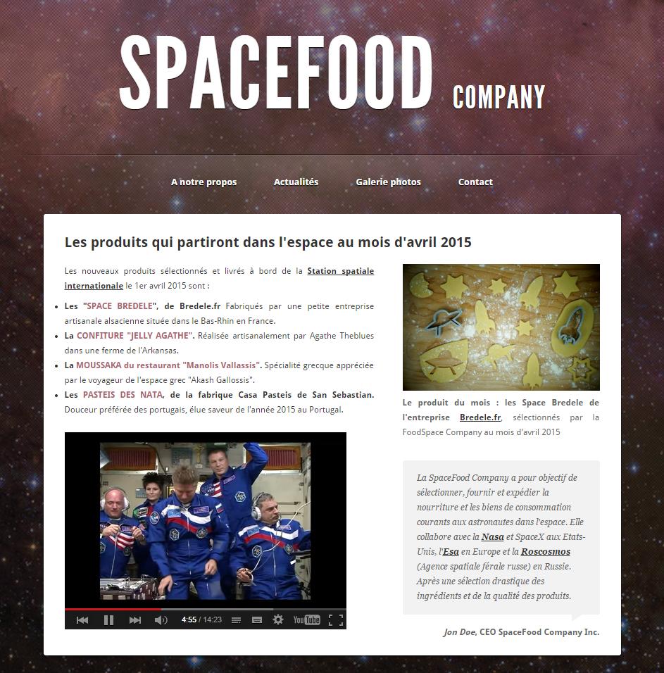 SpaceFood Bredele