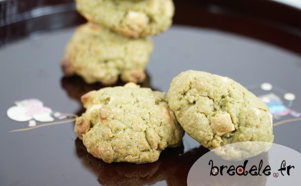 Cookies Thé Matcha et Chocolat Blanc