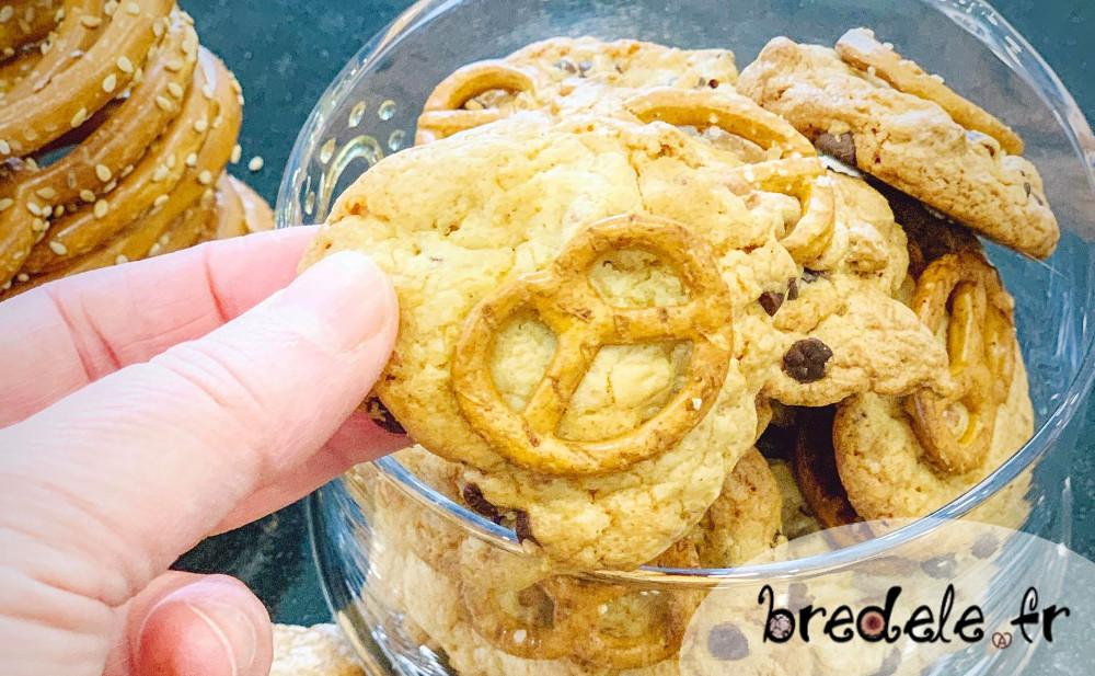 Cookies bretzel chocolat